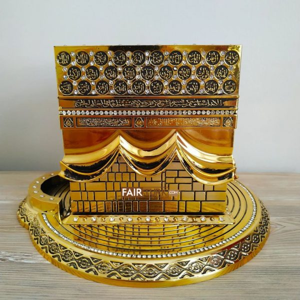 X-Large Size 3D Kaaba Design Islamic Gift In Gold Color