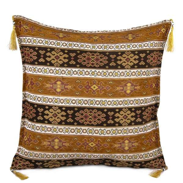 2x Mustard Color Turkish Pillow Case 2258