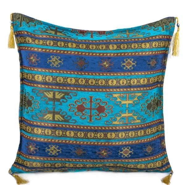 2x Turquoisse Color Floral Turkish Pillow Case 2256