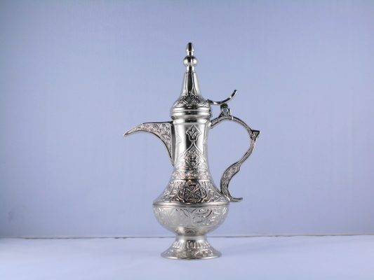 Small Silver Color Zinc Casting Dallah