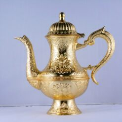 High Zinc Casting Tea - Coffee Pot Gold Color