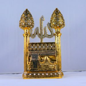 New Gold Kaaba Design Islamic Table Decor