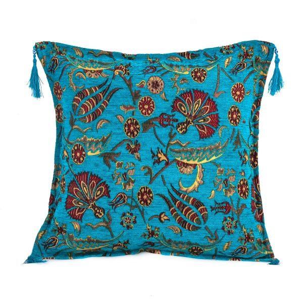 2x Turquoisse Color Tulip Pattern Turkish Pillow Case Set 2263