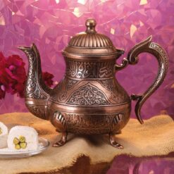 Vintage Style Zinc Casting Tea Pot Copper Color