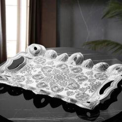 2019 Collection Latest Silver Color Turkish Serving Tray