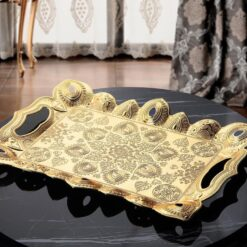2019 Collection Latest Gold Color Turkish Serving Tray
