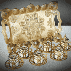 Tulip Design Gold Color 2019 Collection Coffee Set