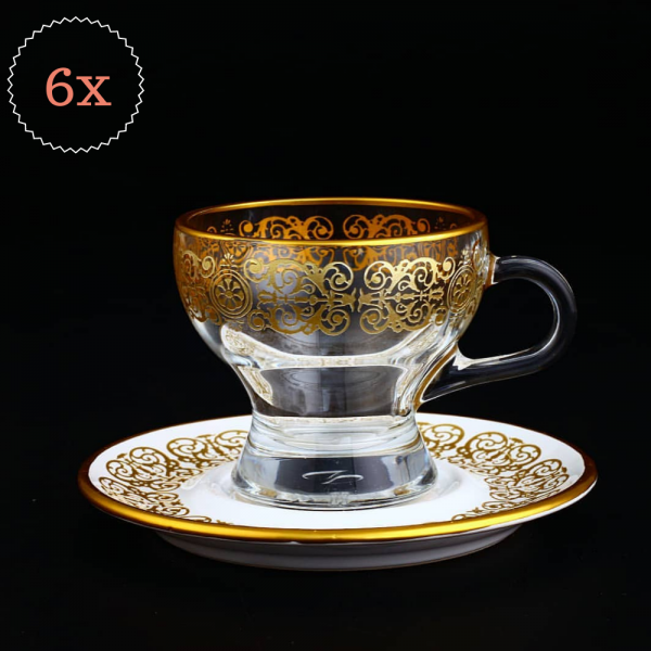 2019 Collection Arabic Large Coffee - Tea Mug Set For 6 Person