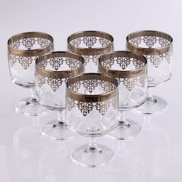 Silver Color Middle Eastern Pudding Cups Set For Six