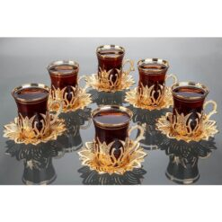 2019 Latest Collection Turkish Tea Cups And Saucers Set Tulip Design