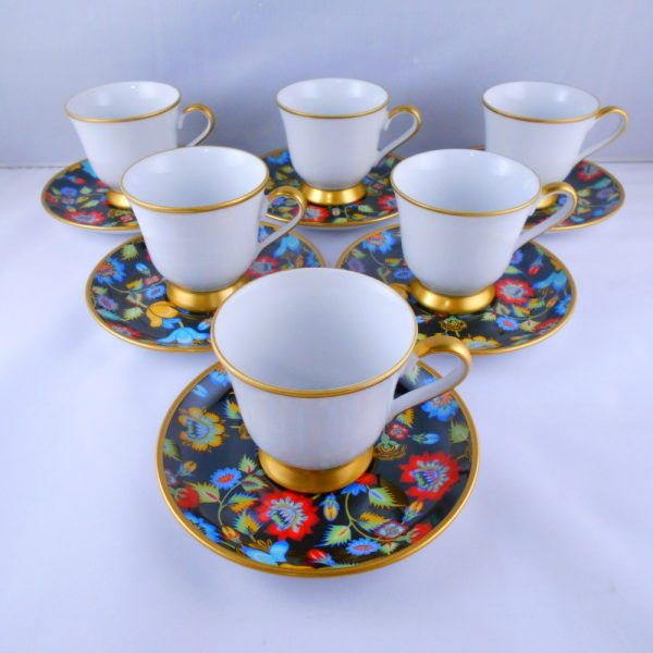 Floral Bohemia Crystal Medium Size Coffee Set
