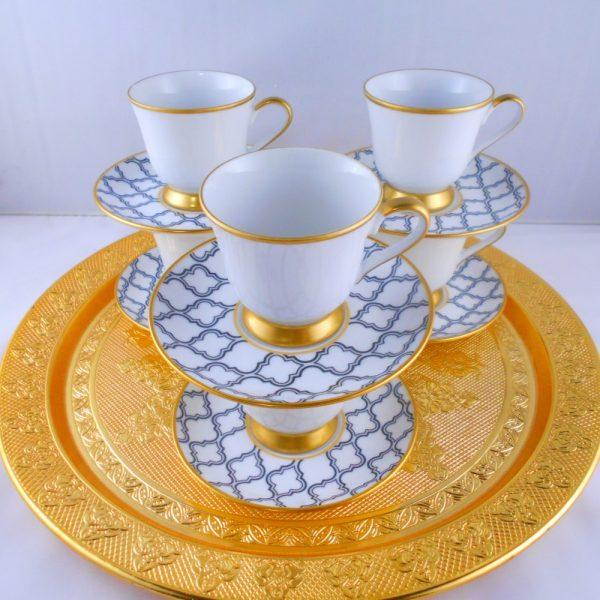 Asude Bohemia Crystal Medium Size Coffee Set