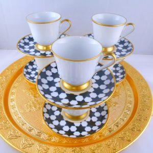 Bohemia Crystal Stars Medium Size Coffee Set