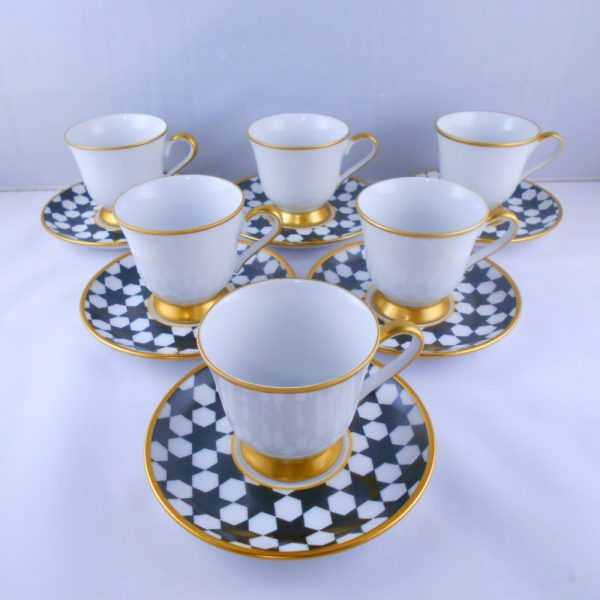 Bohemia Crystal Stars Medium Size Coffee Set