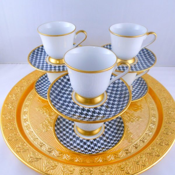 Bohemia Crystal Medium Size Turkish Coffee Set