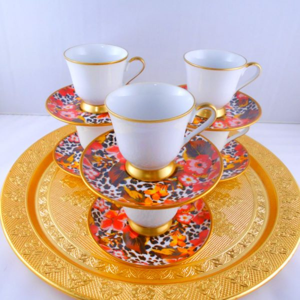 Bohemia Crystal Colorful Medium Size Espresso Coffee Set