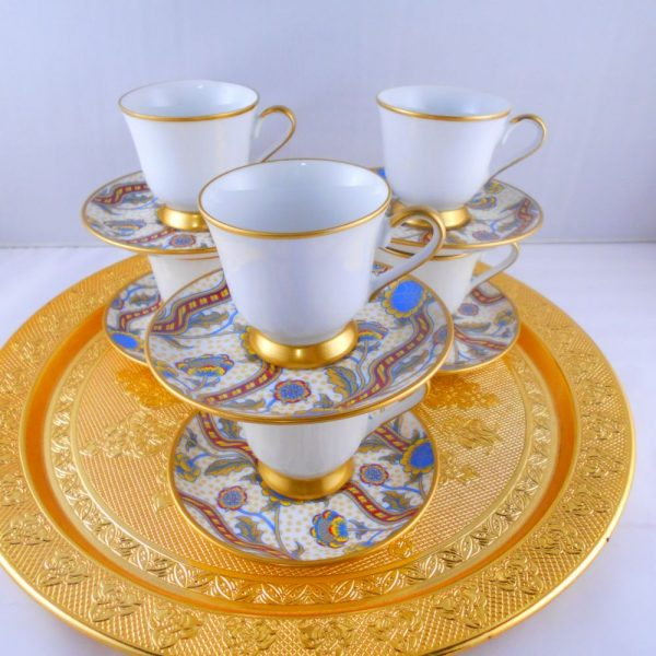 Bohemia Crystal Cream Color Medium Size Espresso Coffee Set