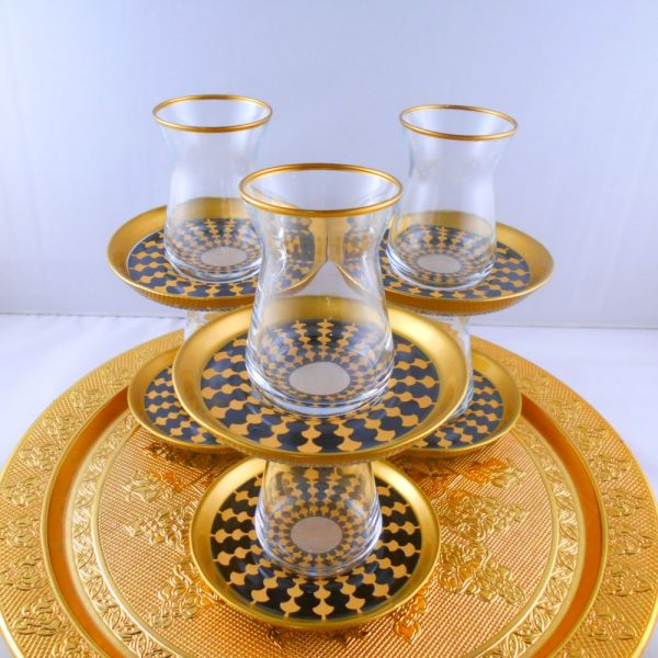 Bohemia Crystal 12 Pcs Hanedan Tea Cups Set