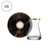Imperial Original Crystal Gold - Black Color Luxury Tea Set