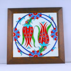 Tulip Design Ceramic Hand Painted Decorative Frame