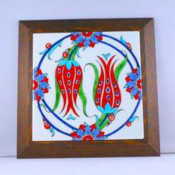 Tulip Design Ceramic Hand Painted Decorative Frame