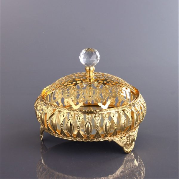Topkapı Turkish Design Gold Color Snack Bowl