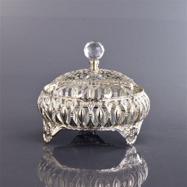 Topkapı Turkish Design Silver Color Snack Bowl
