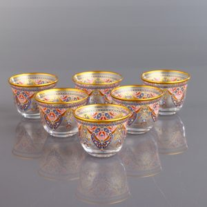 Evla Ethnic Arabic Coffee-Mirra Cups Six Pieces