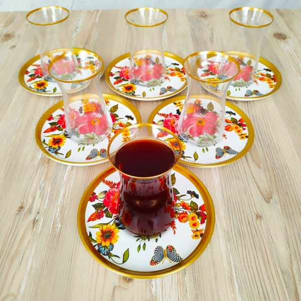 Bigatti 12 Pcs Thin Waist Butterfly Tea Set