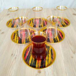 Bigatti 12 Pcs Thin Waist Colorfull Tea Set