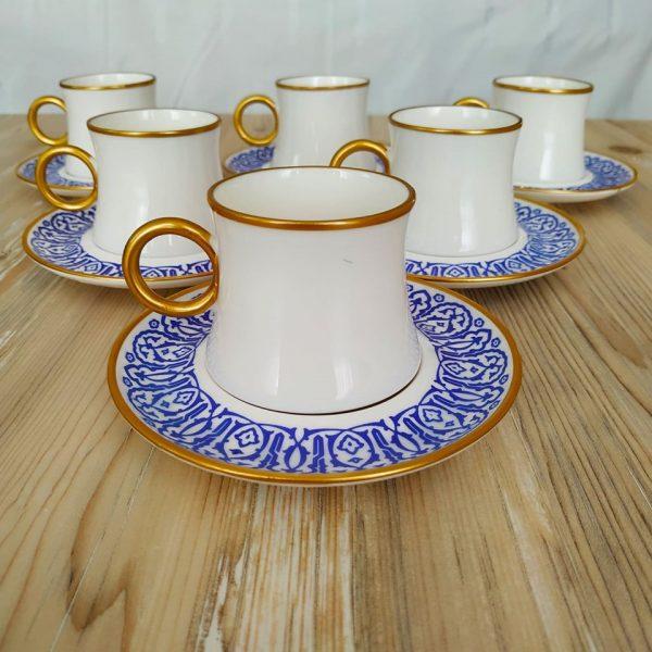 Blue Porcelain Turkish Coffee - Espresso Set