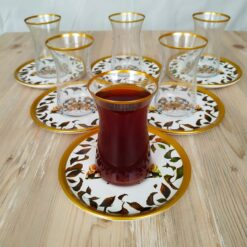 Bigatti 12 Pcs Thin Waist Butterfly White Tea Set