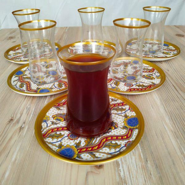 Bigatti 12 Pcs Thin Waist Cream Color Tea Set
