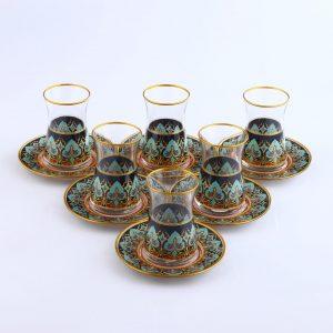 12 Pcs Thin Waist Agah Ethnic Tea Set