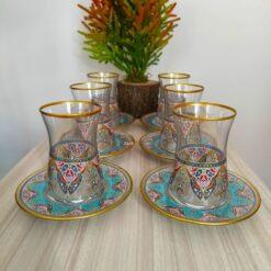 12 Pcs Thin Waist Evla Ethnic Tea Set
