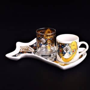 Vav Caftan Design Coffee Set For One Person