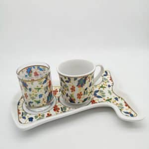 Ottoman Tile Caftan Design Coffee Set For One Person