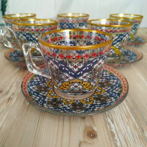 Olympos Coffee Mugs-Tea Glasses For Six Person