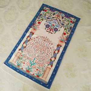 Blue Color Luxury Soft Plush Prayer Mat