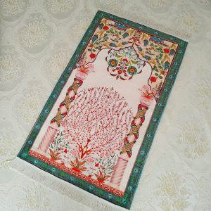 Green Color Luxury Soft Plush Prayer Mat