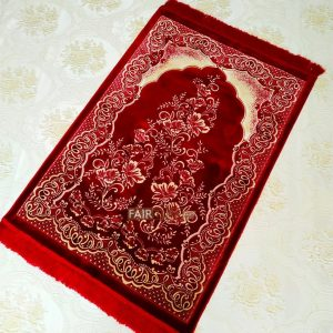 Bigger Size Red Color Luxury Extra Soft Prayer Mat