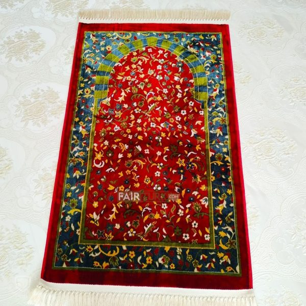Dark Red Luxury Weaving Rug Prayer Mat