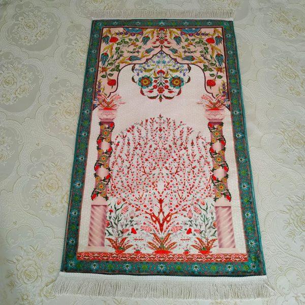 Green Color Luxury Soft Plush Prayer Mat
