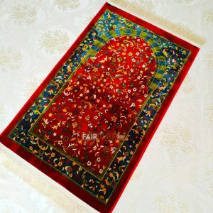Dark Red Luxury Weaving Rug Prayer Mat