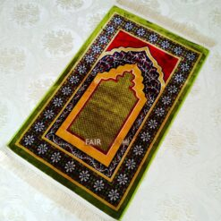 Green Color Luxury Weaving Rug Prayer Mat