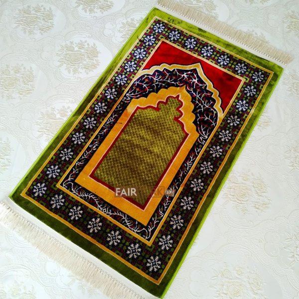green prayer rug