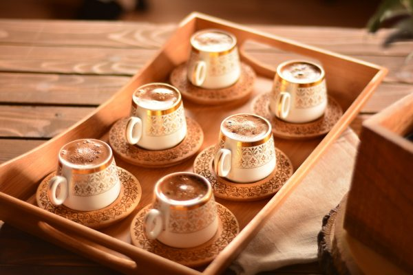 bamboo ottoman coffee set