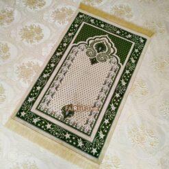 Green Color Soft Plush Muslim Prayer Mat