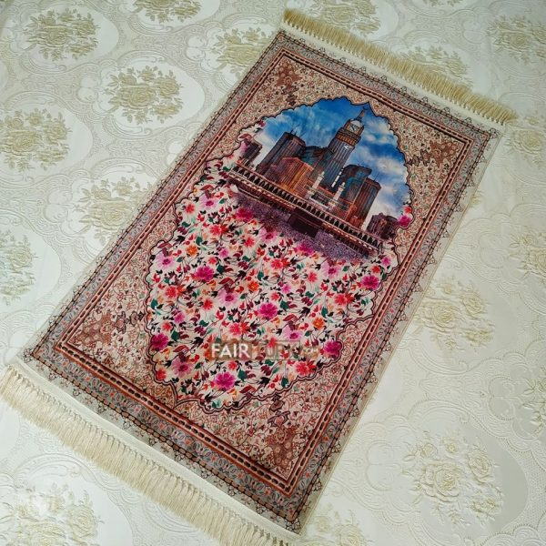 zamzam tower prayer rug