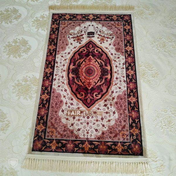 Kaaba Design Digital Weaving Luxury Prayer Rug